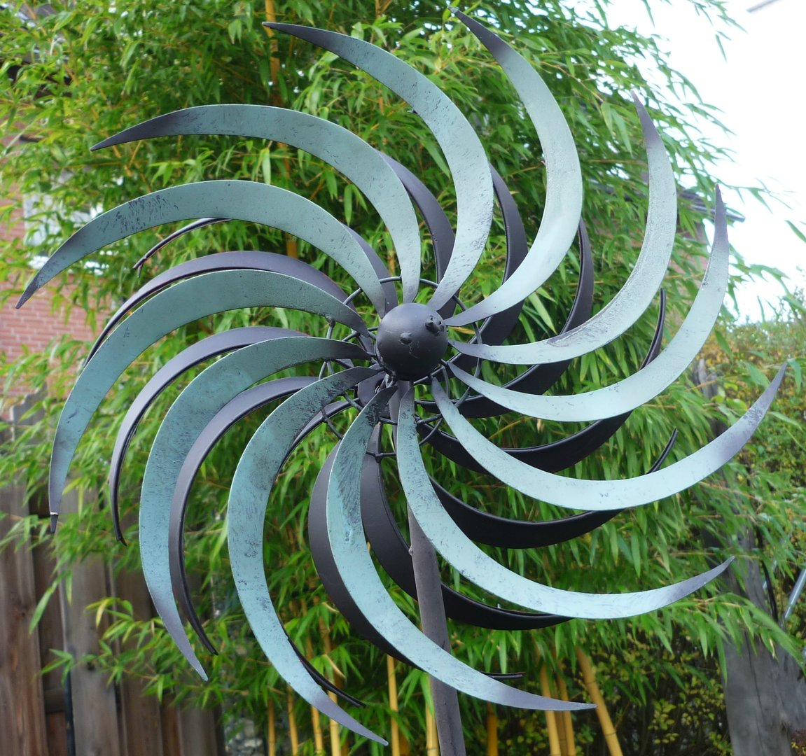 windspiel windrad garten figur metall wind rad sonne gartenlust 175cm gartendekorationen shop. Black Bedroom Furniture Sets. Home Design Ideas
